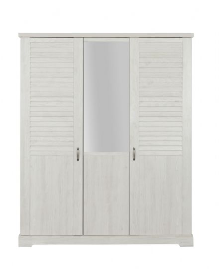 Thelma Wardrobe, 3 Doors White
